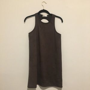 Brown suede dress - brand new!