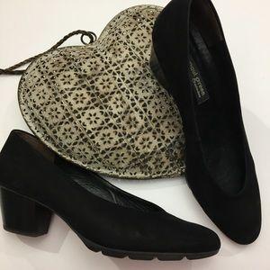 Paul Green black suede shoes