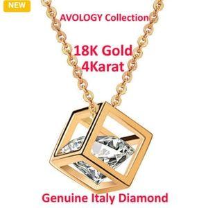 💎NWOT.Luxury 18K Gold-Plated 4K Genuine Diamond💎