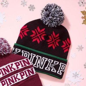 🐕🐾Pink Christmas beanie