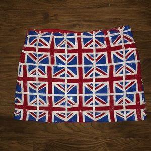 Union Jack Sequin Skirt