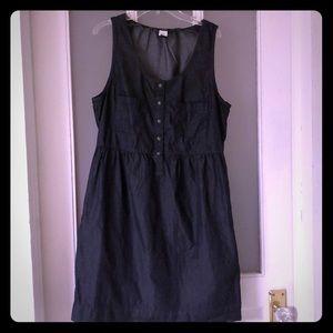 J. Crew dark chambray sleeveless dress