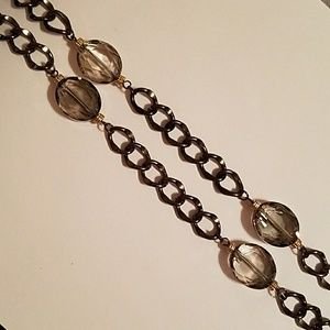 "34"" Mega Chain w/6 Accent Faceted Beads"