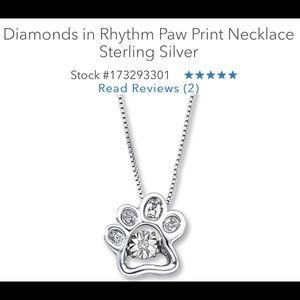 Kay Jewelers Diamond Paw Print Necklace NEW!