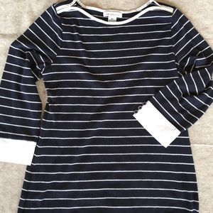 Navy blue stripped tunic