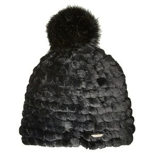 Calvin Klein Faux Fur Pompom Beanie