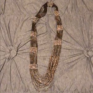 LOFT long beaded necklace