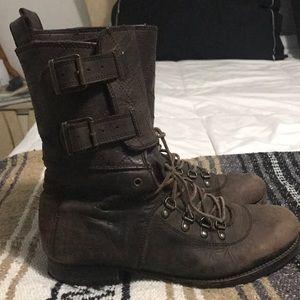All Saints Demise Alpine leather boot