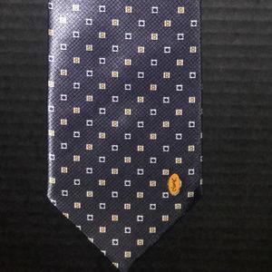 Yves Saint Laurent 100% Silk Vintage Hand Made Tie