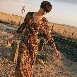 Anthropologie Farm Rio Madrid Wrap Dress