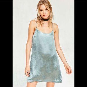 Silence and Noise Satin Shimmer Slip Dress