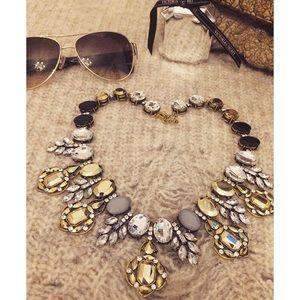 Multi Color Glass Gem Necklace