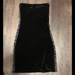 TOMMY HILFIGER VELVET TUXEDO STYLE BLACK DRESS