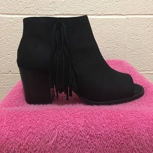 Black Peep Toe Booties 8.5