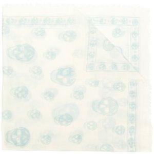 Alexander McQueen skull print scarf NWT