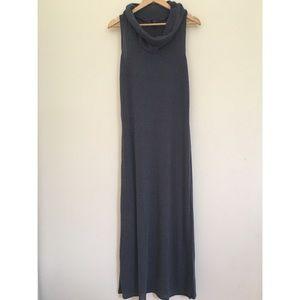 Gray cowl neck maxi dress
