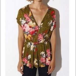Cooperative Floral Blouse