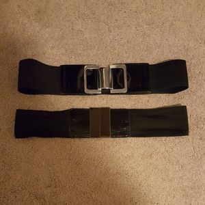 2 wide stretchy belts