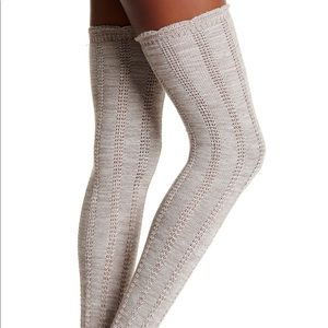 NWT Free People PINK Frayed Knit Socks