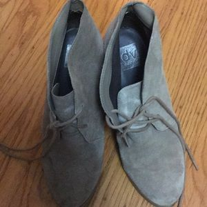 Dolce Vita suede booties - taupe sz 8