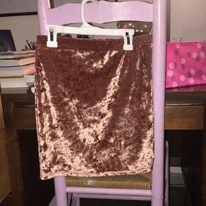 Rusty Pink velvet skirt