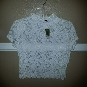 Ross lace crop top
