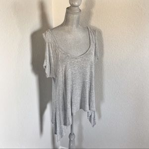 Gray Cold-Shoulder Tee Size Medium