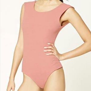 Pink bodysuit with open back