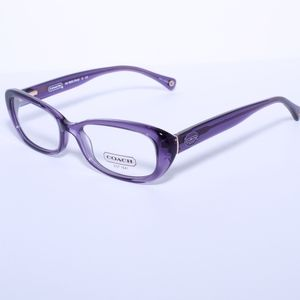 COACH Eyeglasses HC6035F 5097 Transparent Purple 5