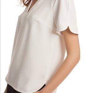 NNW Trina Turk white blouse