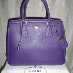 PRADA Viola Purple Lux Saffiano Purse