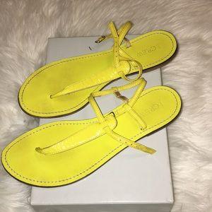Neon Yellow Sandals