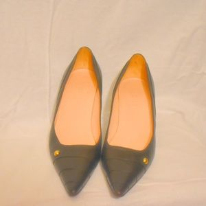 AUTH Chanel brown logo leather pumps heels 39 8.5