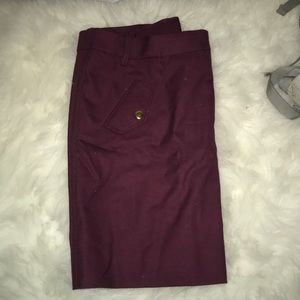 Maroon Jcrew skirt with zipper and belt loops