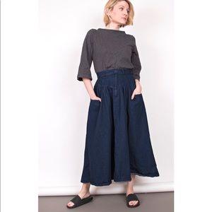 Vintage 90s high waisted denim midi skirt