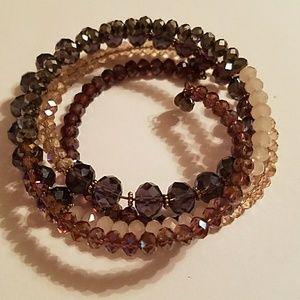 Ali Khan Swarovski Crystal Wrap Bracelet