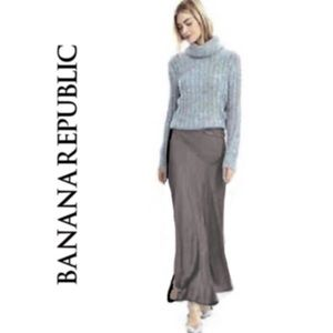 Banana Republic Bias Cut Gray Maxi Skirt