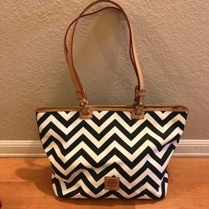 Dooney and Burke Chevron tote and wallet set