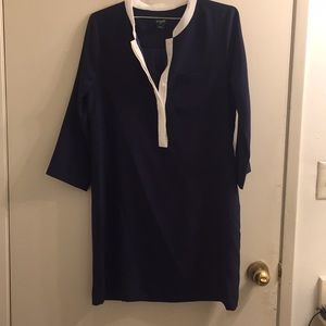 J. Crew navy and white dress size 6 only worn once