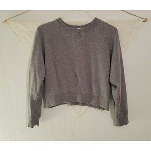 Brandy Melville Cropped Gray Sweatshirt