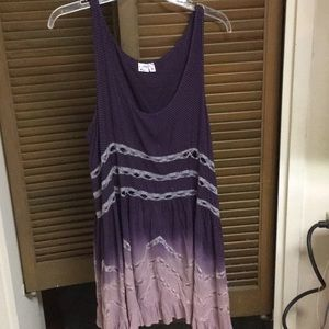 Free People Viole and Lace Slip Dress