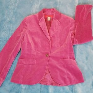 Anne Klein pink velvet blazer size 12