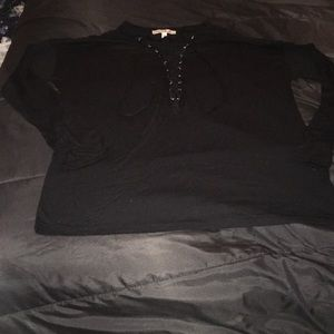 EXPRESS Black Lace Up Shirt