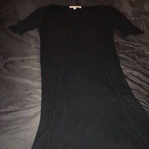 EXPRESS Long Black Slit Shirt