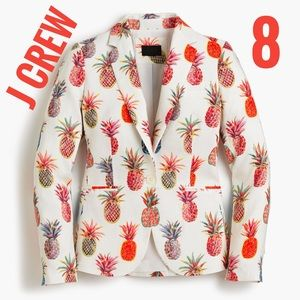 J Crew Campbell blazer Ratti Painted Pineapple NWT