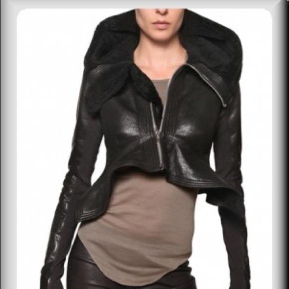 eacc46cc2fe Rick Owens leather shearling jacket. M 5a31ec3256b2d663f4009222