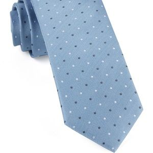 The Tie Bar - Suited Polka Dots in Steel Blue