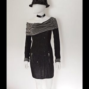 MISS SIXTY DRESS - ITALY GOTHIC TORN, LONG SLEEVE