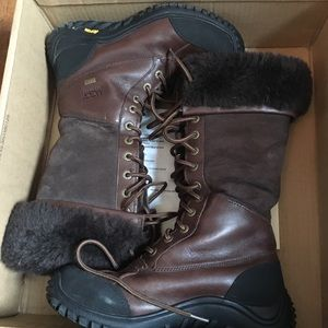 "UGG, Adirondack, dark chocolate brown 12"" shaft"