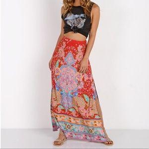 BNWOT Spell Lotus Maxi Skirt Small